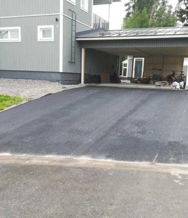 Pihan asfaltointi